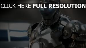 iron man armure énergétique chromé