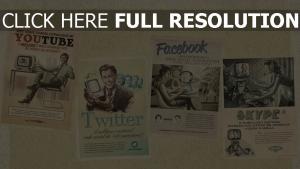 youtube facebook skype vintage