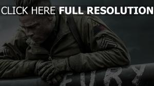 fury brad pitt uniforme soldat