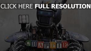 chappie robot tête inscription