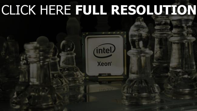 fond d'écran hd intel processeur d'échecs