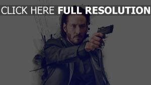 john wick pistolet costume keanu reeves