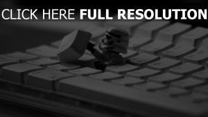 clavier stormtrooper gros plan