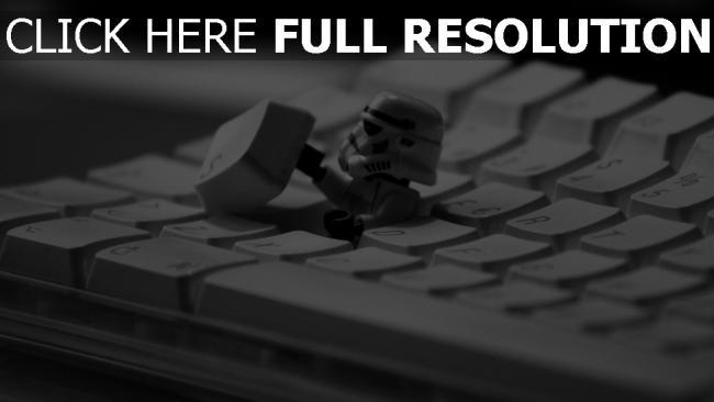 fond d'écran hd clavier stormtrooper gros plan