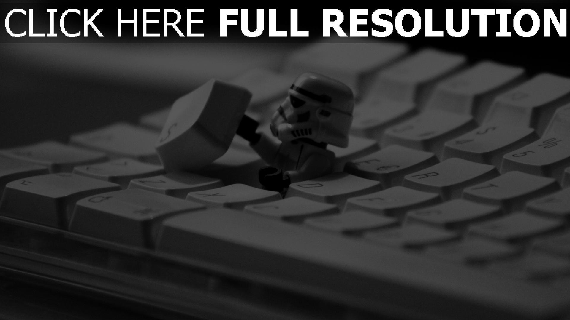 fond d'écran 1920x1080 clavier stormtrooper gros plan