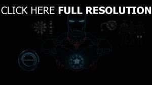 iron man le schéma énergie illuminée