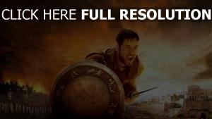 gladiateur bouclier russell crowe nuageux