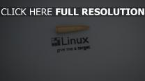 linux inscription balle