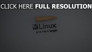 linux inscription balle