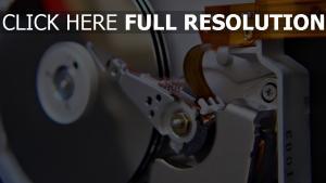 moteur disque gros plan