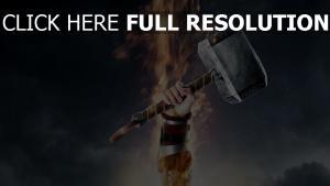thor marteau de bataille feu