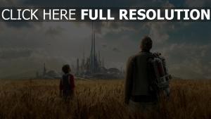 poursuite de demain champ futuriste mégalopole