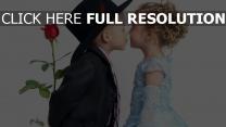 bebe costume rose robe baiser