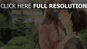 film d'animation baiser couple