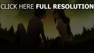 couple nuit ciel film d'animation