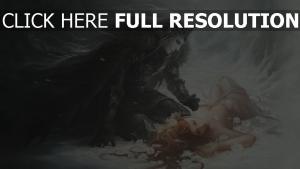 elfe noir roux belle romantique