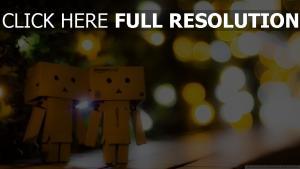 robot couple arrière-plan flou