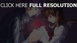 couple rose écolière doux