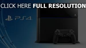playstation 4 console bleu arrière-plan