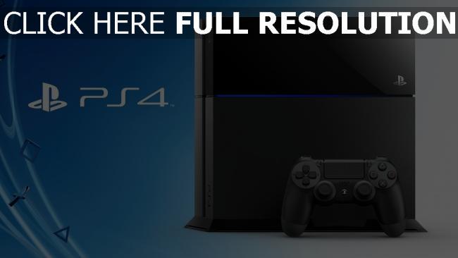 fond d'écran hd playstation 4 console bleu arrière-plan