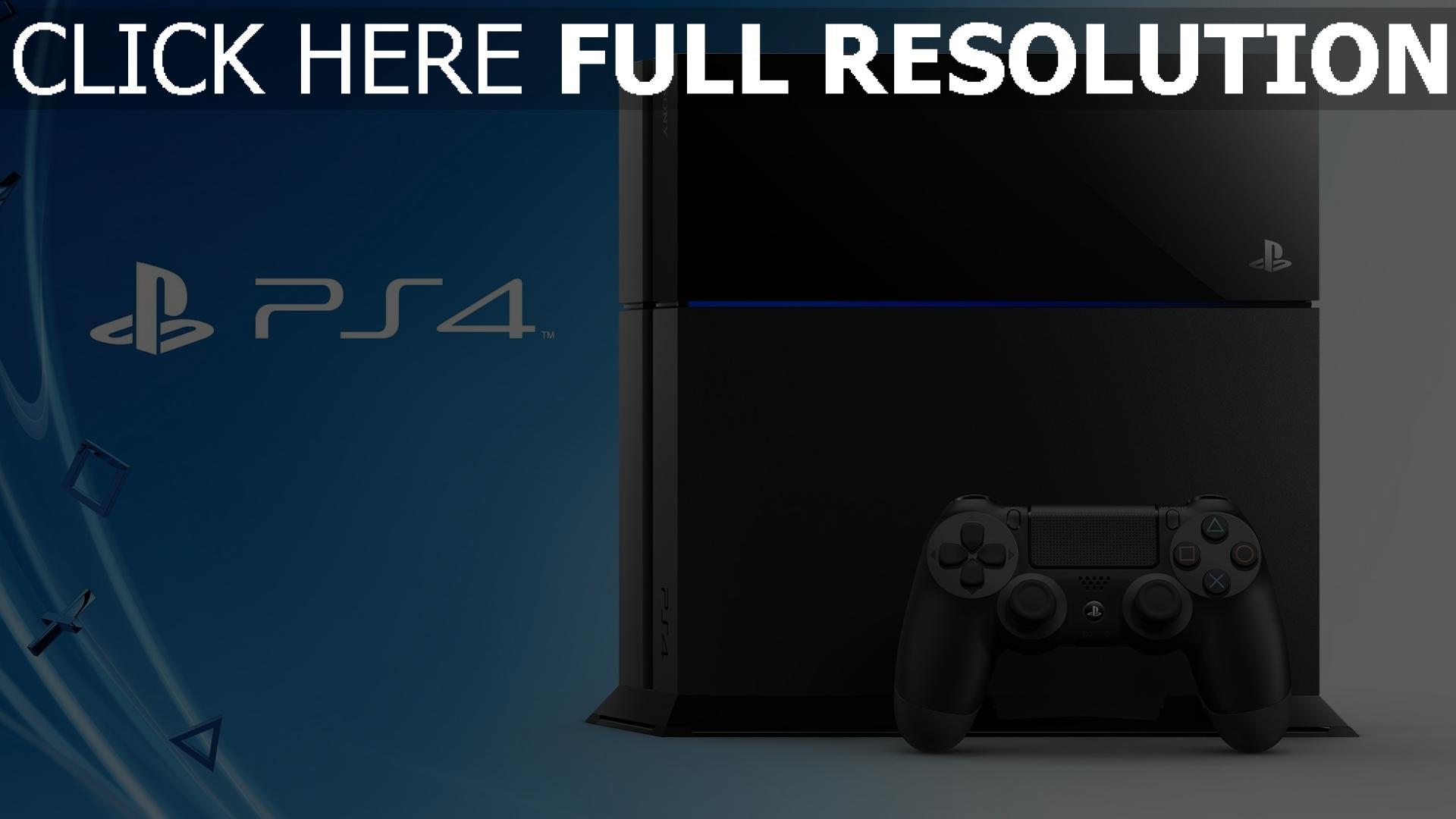 fond d'écran 1920x1080 playstation 4 console bleu arrière-plan