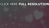 cœur rose étincelant arrière-plan