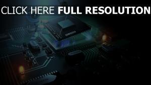 processeur travail robot microcircuit