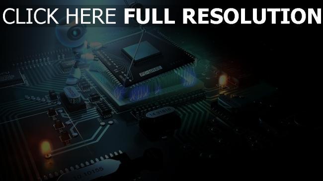 fond d'écran hd processeur travail robot microcircuit