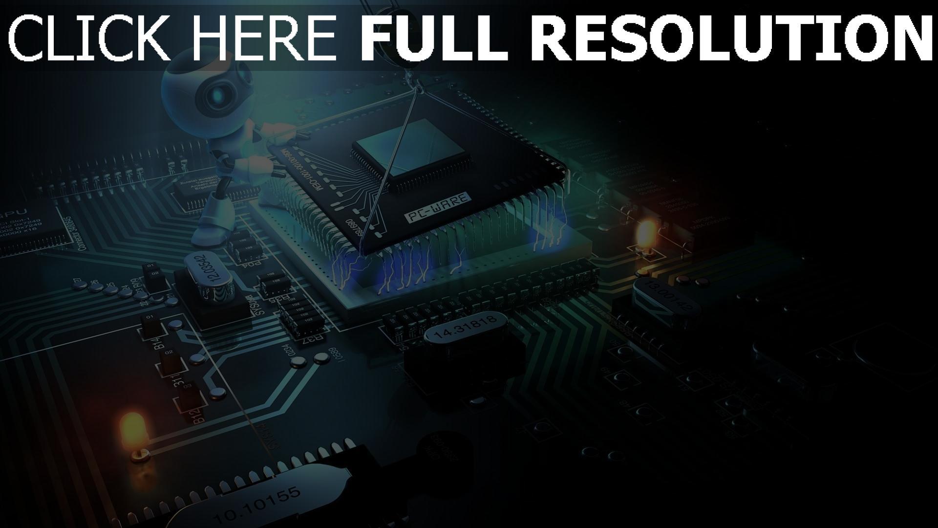 fond d'écran 1920x1080 processeur travail robot microcircuit