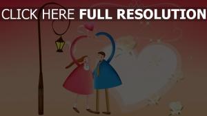 cœur geste lanterne étincelant