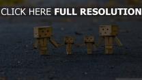 robot famille arrière-plan flou