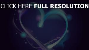 cœur bleu ligne inscription