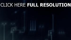 microcircuit bleu lumineux