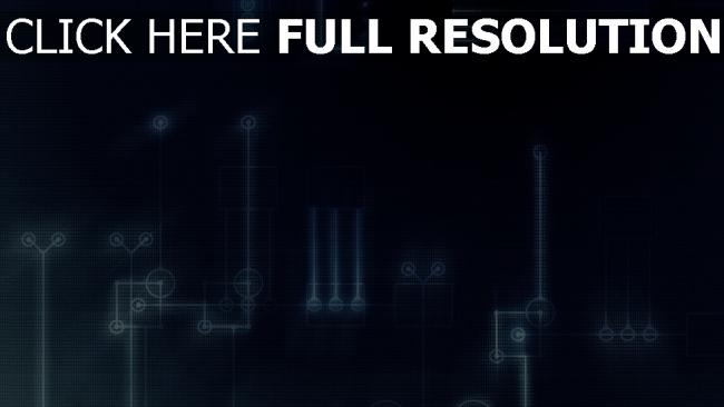 fond d'écran hd microcircuit bleu lumineux