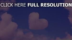 cœur nuage ciel rose