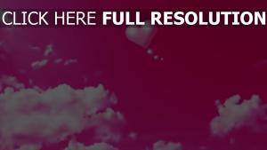 rose ciel ballon