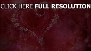 cœur motif rose arrière-plan