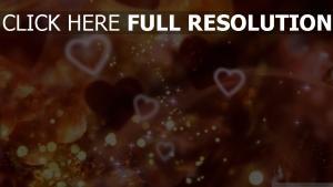 cœur étincelant composition arrière-plan flou