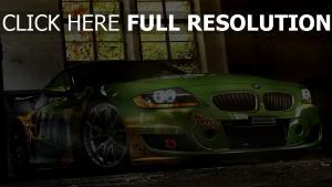 bmw m4 vue de face voiture de sport phares