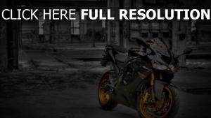 kawasaki zx6 moto sportive vue de face