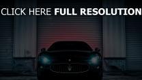 maserati voitures de luxe vue de face phare