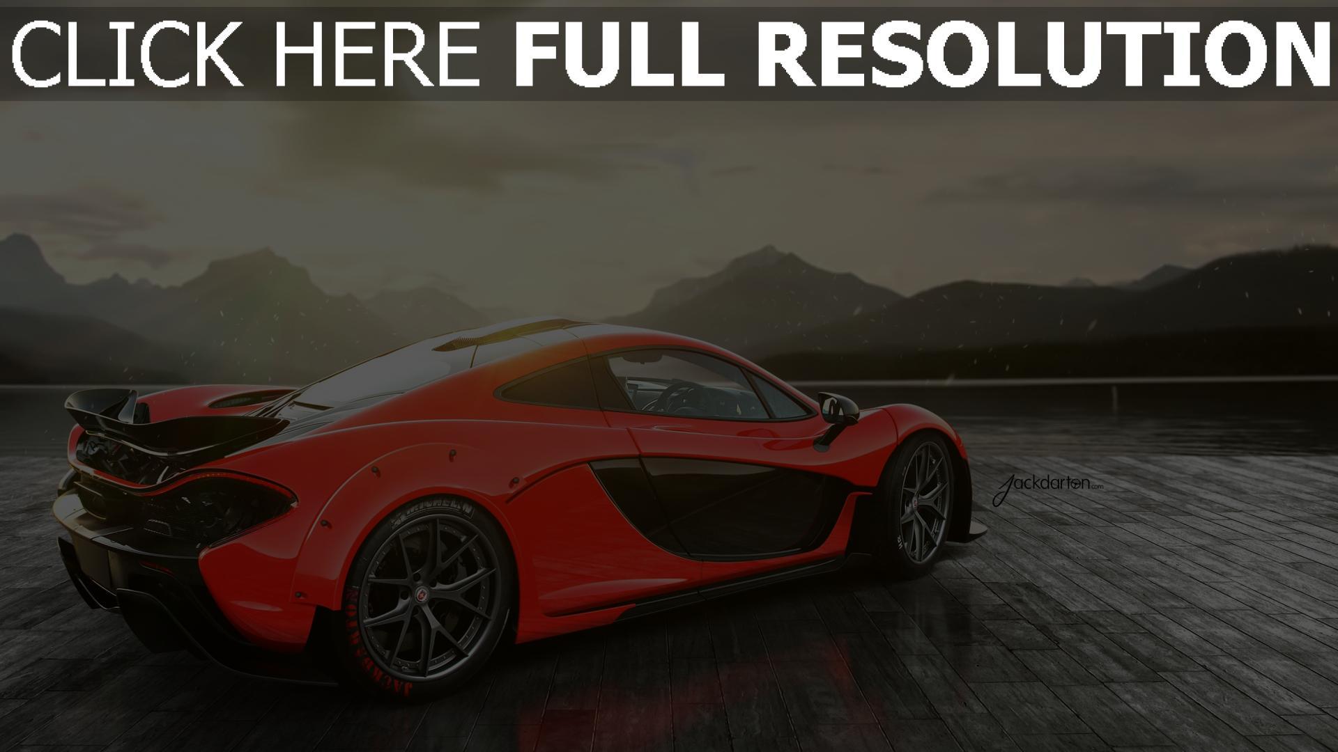 Fond d'écran HD mclaren p1 vue de côté voiture sportive de prestige, Images et Photos
