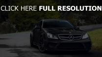 mercedes noir coupé voiture de sport