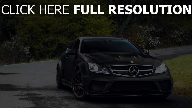 fond d'écran hd mercedes noir coupé voiture de sport