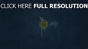 android minimalisme logo de la marque