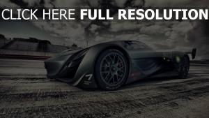 mazda furai voiture de sport nuageux concept