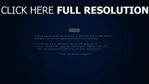 erreur écran bleu de la mort windows