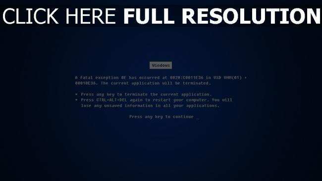 fond d'écran hd erreur écran bleu de la mort windows