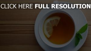 thé citron menthe