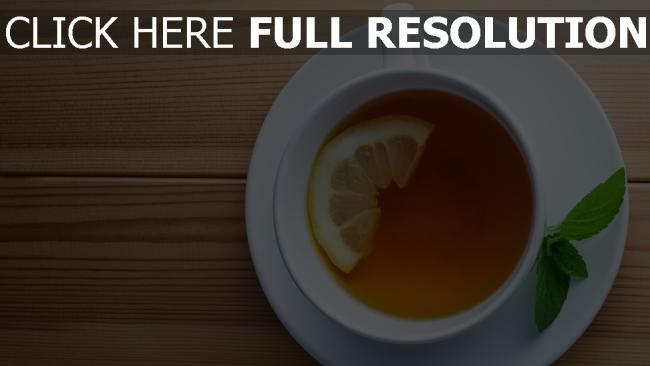 fond d'écran hd thé citron menthe